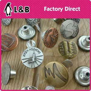 Custom Made 17mm 20mm Cheap Iron Jeans Button pictures & photos