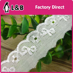 2017 Embroidery Technical 100% Cotton White Lace Trimming pictures & photos