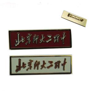 Hard Enamel Rectangle Shape Nameplate Badge pictures & photos