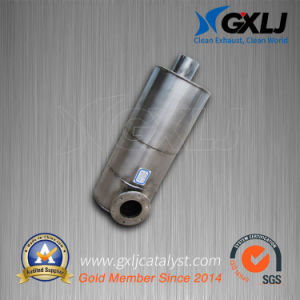 Oval Exhaust Pipe Catalytic Muffler (S235JR) Converter pictures & photos