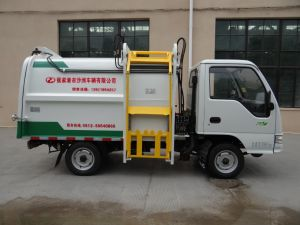 5 Cbm Side Load Garbage Truck with Gasoline Engine pictures & photos