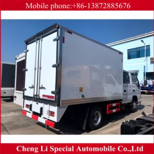 High Quality 4X2 Isuzu Double Row 5 Seats Refrigerator Truck pictures & photos