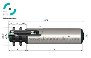 Polymer Sprocket Accumulating Conveyor Roller (3214/3224) pictures & photos