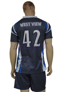 Custom Soccer Shirt Sublimation Youth Team Soccer Jerseys Set (S026) pictures & photos
