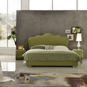 Model Leather King and Queen Size Bed Furniture G7006 pictures & photos