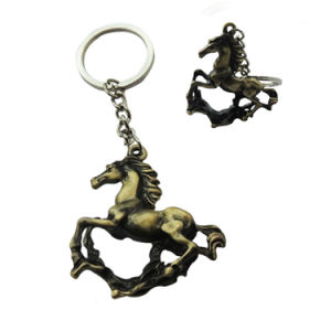 Emboosed 3D Terne Metal Horse Key Chains for Gift (XDBG-277) pictures & photos
