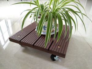 Square Plant Dolly Plant Caddy WPC Wood Dolly pictures & photos