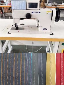 Double Needle Thick Thread Ornamental Stitching Machine for Decorative pictures & photos