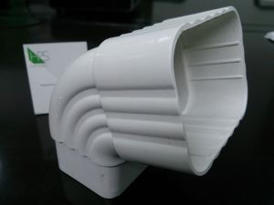 PVC Pipe Fitting Rainwater Gutter Building Material Rainwater Downspout Fittings pictures & photos