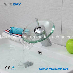 Round Glass Spout Bathroom Waterfall Basin Mixer Tap pictures & photos