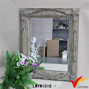 Shabby Chic Carving Wooden Rustic Wall Mirror pictures & photos