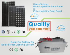 Project Managed 5years Warranty LED Solar Street Lights Solar Panel Energy Street Lighting pictures & photos