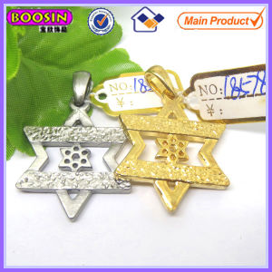 Gold Metal Star of David Pendant Charm #18578 pictures & photos