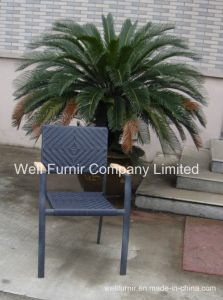 Wood Arm Chair/ Waterproof Arm Chair/Wicker Chair/Grey Rattan Chair pictures & photos