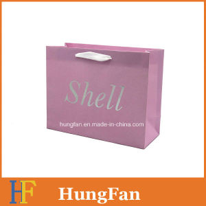White Kraft Paper Printed Shopping Bag with Hot Stamping Title pictures & photos