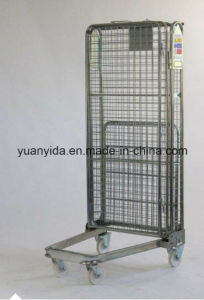 Warehouse Full Sided Heavy Duty Mesh Roll Pallet/Roll Container/Hand Trolley pictures & photos