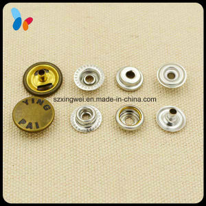 Engraved Antique Brass Clothes Ring Snap Button pictures & photos