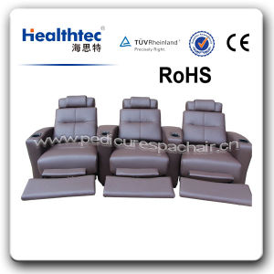 Top Backrest Geniuine Leather Home Theater Furniture (T019) pictures & photos