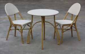 Outdoor Cafe Furniture, Textilene Table and Chair (TC-08034+DT-08003) pictures & photos