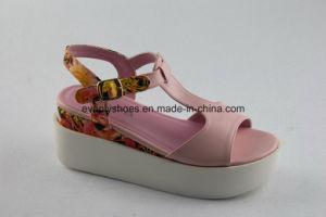 Platform Design Lady Fashion Sandal with T-Strap pictures & photos