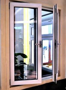 Plastic UPVC PVC Casement Double Glass Swing Windows Factory pictures & photos