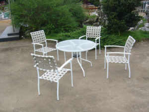 Lounge Dining Table and Chair Garden Outdoor Furniture (FS-4001+FS-5007) pictures & photos