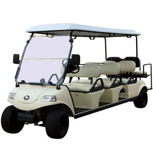 6+2 Seater Golf Cart with Front Trunk & Solar Panel pictures & photos