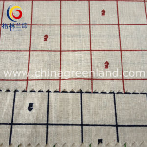 Cotton Linen Printed Check Fabric for Man Cloth Garment (GLLML136) pictures & photos