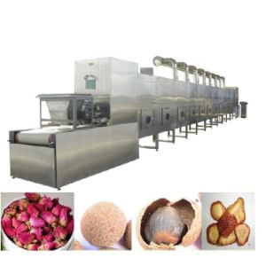 20kw Continuous Tunnel Microwave Steilizing and Drying Machine for Food pictures & photos