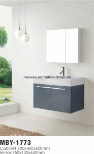 Wall Mount Modern Modern Single Sink MDF Bathroom Cabinet pictures & photos