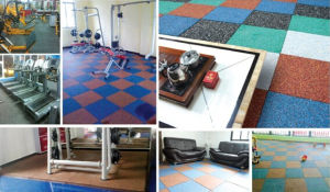 600*600mm Interlocking Rubber Brick, Outdoor Interlocked Recycled Rubber Tile pictures & photos