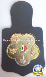 3D Dual Plating Soft Enamel Badge with Leather Accessory pictures & photos