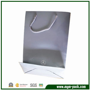 OEM Simple Design White Paper Gift Handbag pictures & photos