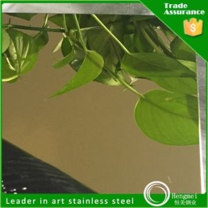 201 304 316 430 No. 8 Mirror Finish Stainless Steel Sheet Gold Color pictures & photos