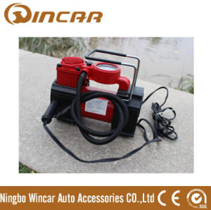 Two Cylinder Electric Air Compressor with LED Light