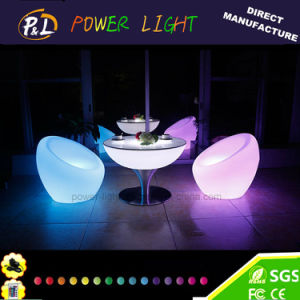Garden Furniture Illuminated RGB Plastic LED Sofa pictures & photos