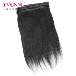 Straight Brazilian Clip in Human Hair Extensions pictures & photos