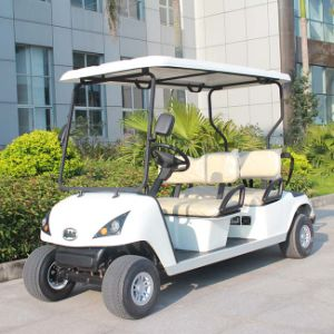 Ce Certificated 4 Seat Electric Four Wheel Cart for Golf Course Dg-C4 pictures & photos