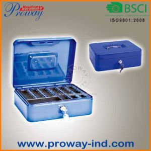 High Quality Metal Cash Box/Safe with Compartment pictures & photos