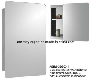 Aosmay Stainless Steel Mirrior Cabinet with Sliding Door 366c