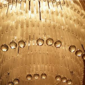 Hotel Lobby Large Wave Shapes Luxury K9 Crystal Chandelier pictures & photos