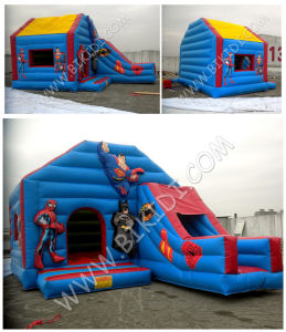 China Inflatables, Big Inflatable Bouner with Slide, Combo with Roof B2216 pictures & photos