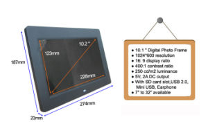 HD Video MP3 MP4 Photo Loop USB Picture Frame for Advertising 10.1 Inch pictures & photos