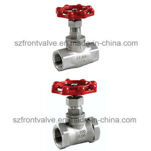 Investment Casting Screwed Stainless Steel Globe Valve pictures & photos