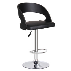 Modern Black Leather Leisure Dining Hydraulic Bar Stools (FS-WB091P) pictures & photos