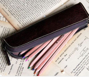 Genuine Leather Pencil Bag ( S3004 pictures & photos