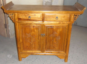 Chinese Antique Furniture Carved Shrine Wooden Cabinet Lwb773 pictures & photos