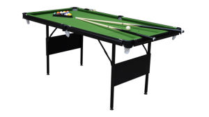 6′ Folding Metal Leg Pool Table (P603) pictures & photos