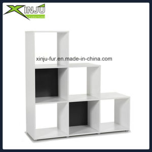Wooden Display Bookcase Storage and Shelving with White Melamine
