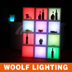 LED Colors Glowing Commercial Antique Wine Bar Cabinet pictures & photos